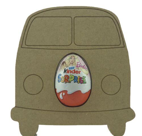 Camper van 18mm MDF Kinder Egg Holder Freestanding Blank Craft Shape
