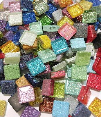 150g 170pcs Mix Crystal Glitter Mosaic Vitreous Tiles 10x10mm Craft Art Gem #7