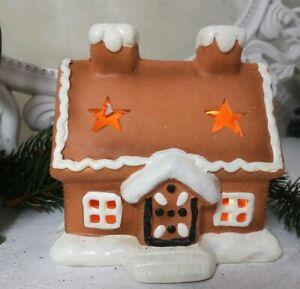 Casa-de-Pan-de-Especias-con-LED-Lichterhausweihnachten-Navidad-Shabby-Vintage