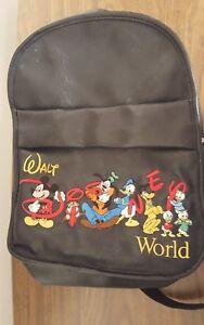 5382aa7d3ec0 Image is loading VTG-Black-PVC-Walt-Disney-World-Embroidered-Inspired-