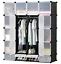 16-20-Cube-DIY-Plastic-Storage-Wardrobe-Shoe-Organizer-Shelves-Unit-Hanging thumbnail 6