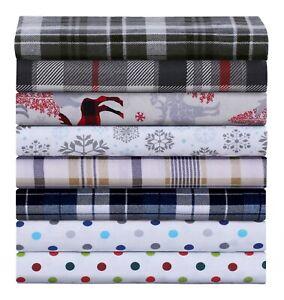 Luxury-Cotton-Flannel-Sheet-Set-Deep-Pocket-Warm-Cozy-Super-Soft-Bedding