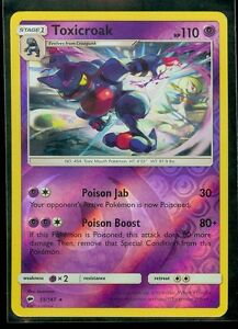 Toxicroak Reverse Holo 55//147 Burning Shadows M//NM Pokemon TCG Card