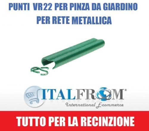 Italfrom Punti Plastificati VR22 per Pinza da Giardino per Rete Metallica