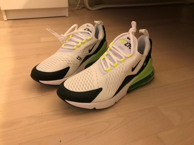 Sneakers, Nike Air Max 270, str. 43,  Hvid, sort, grøn,…