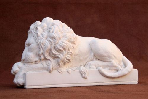 Canova Sleeping Lion plâtre grande sculpture L32cm by Modern souvenir Co