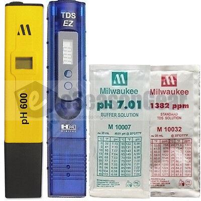 PH600 + TDS-EZ + pH 7 + 1382 ppm COMBO Milwaukee/HM/Digital/Pen/Meter/Solutions