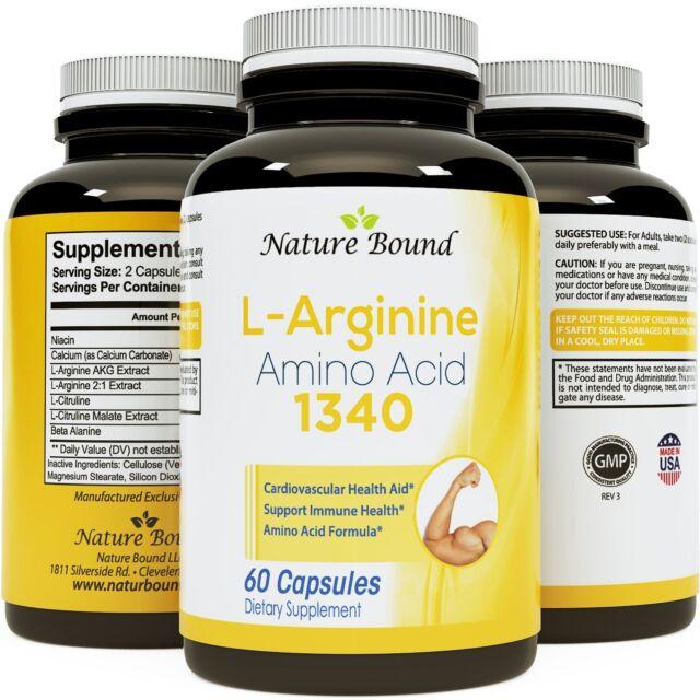 L-Arginine with L-Citruline - Natural Supplement for Heart Health & Circulation