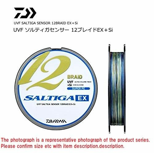 Daiwa PE Line UVF SALTIGA SENSOR 12 BRAID EX+Si MultiColoreeee 600M from JAPAN