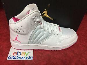 9e3495be5d5b91 Nike Air Jordan 1 Flight 4 (GG) White Volt Pink Boy s Girl 820183 ...