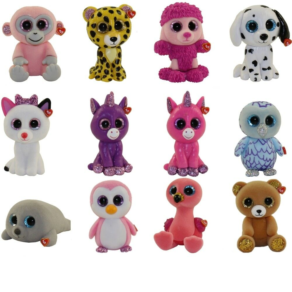 2018 Full Set of 12 Ty Mini Boo Series 3 Hand Painted Collectible Figurines New