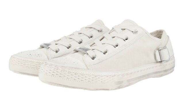 LUXUS BELSTAFF SNEAKER SCHUHE 757485 OFF WHITE NEU NEW 42