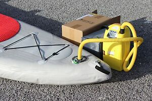 Details about 12V Electric Air Pump w/ Battery For Zodiac, Achilles,  Mercury Inflatable Boats