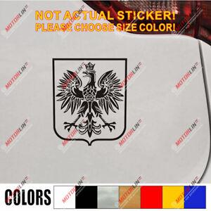 Poland Coat of arms Decal Sticker Polish Eagle Herb Polski Vinyl pick size color