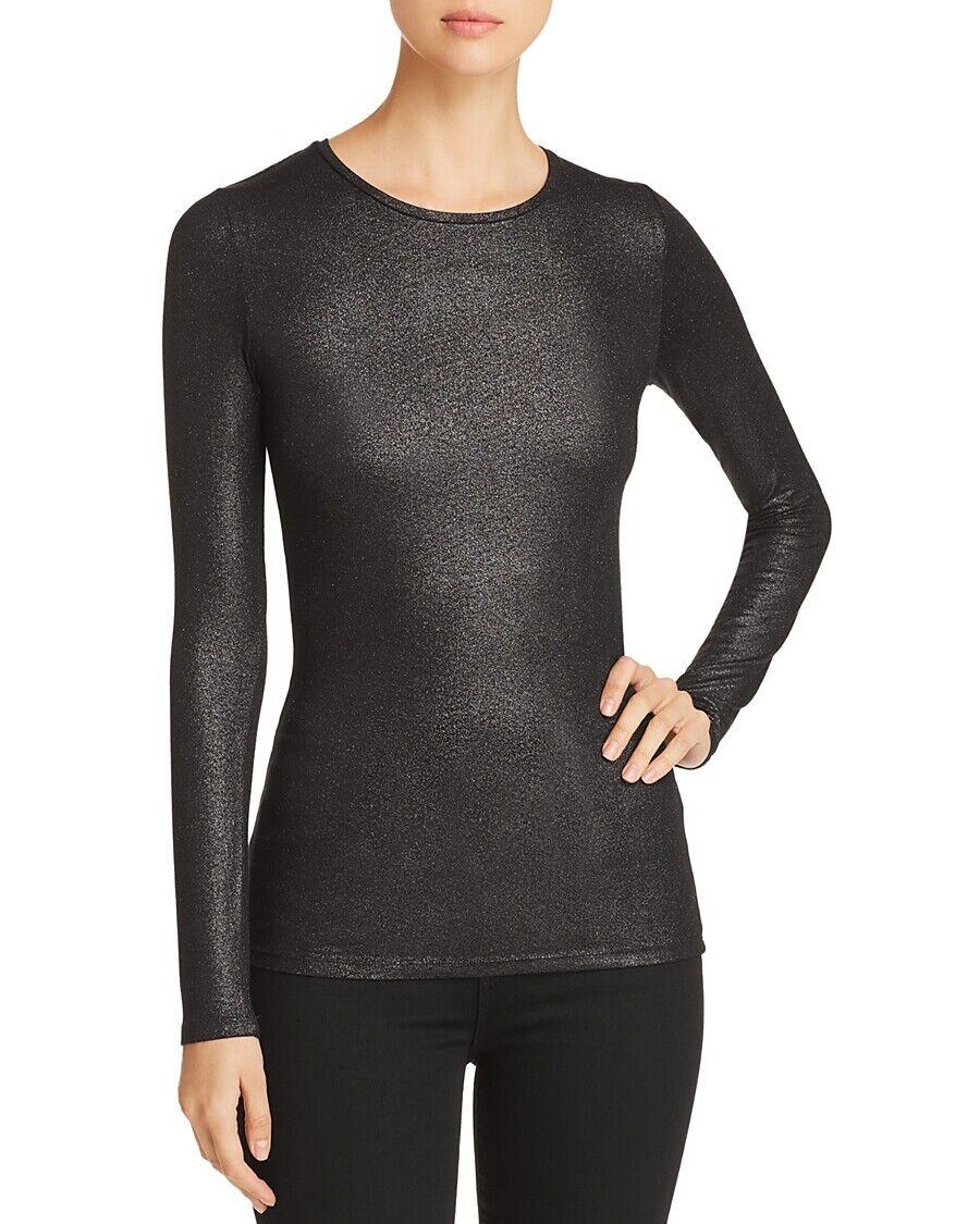395 Negro Metálico majestuoso Filature para  mujer de cuello rojoondo manga larga súperior talla XS  Mejor precio