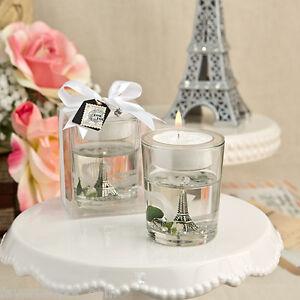 1 Eiffel Tower Gel Candle Wedding favor Bridal Shower Favors Paris