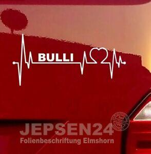 BULLI-Herzschlag-Aufkleber-fuer-VW-Bus-Liebhaber-S136-18cm-Farbe-nach-Wunsch