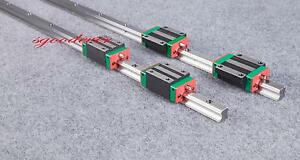 2Pcs High Precision HGR20 500mm Linear guide rail  + 4Pcs HGH20CA carriages
