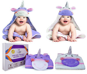 Unicorn-Organic-Bamboo-Cotton-Baby-Hooded-Bath-Towel