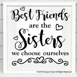 """YOU ARE THE SISTER I GOT TO CHOOSE VINYL DECAL FOR 8/"""" GLASS BLOCK DIY CRAFTS"""