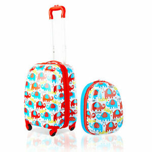 2PC-Kids-Luggage-Set-12-039-039-Backpack-amp-16-039-039-Rolling-Suitcase-Child-Travel-ABS
