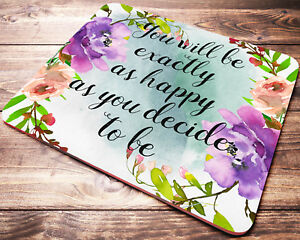 Image Is Loading Fl Inspirational Quote Mouse Pad Desk Accessories Office