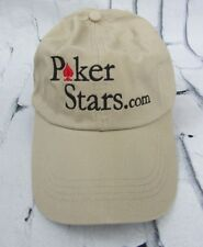 Vintage PokerStars Poker Stars with Dot Com Hat Cap WSOP Tan Khaki