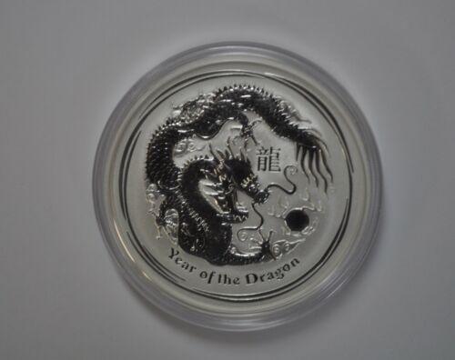 Australia 2012 5 Ounce Lunar Dragon .999 Silver Coin Free Shipping
