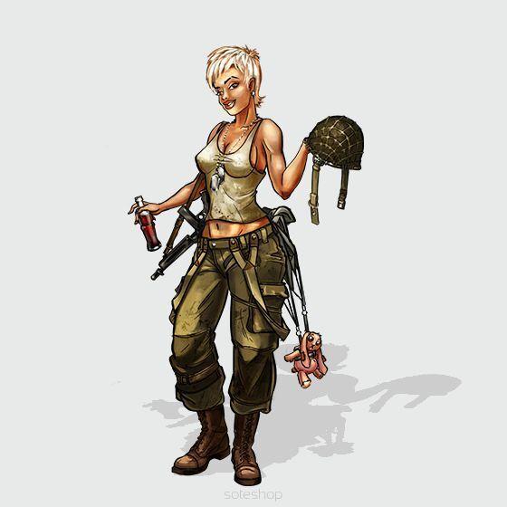 Jane US Paratrooper 54mm Hot and Dangerous Wargamer Games Studio Miniature USA