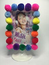 Violetta Photo Frame Cornice Porta foto Decorata con Pon-Pon