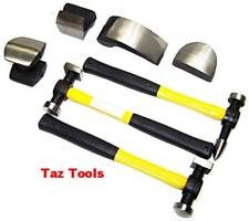 7 Pc Body Fender Auto Dent Repair Tool Kit Hammer Dolly Fiberglass Handle Tools