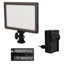 Blendfreie LED Videoleuchte Bi-Color LUXPAD 22 mit Akku 2000 mAh und Ladegerät