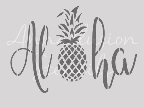 shabby chic 190 micron mylar Aloha pineapple tropical stencil A3 A4 beach