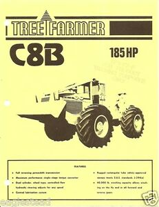 Details about Equipment Brochure - Tree Farmer - C8B - Skidder Logging  Forestry c1974 (E1418)