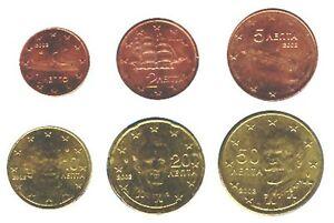 Greece-2002-Maxi-Set-of-6-Euro-Coins-UNC-RARE