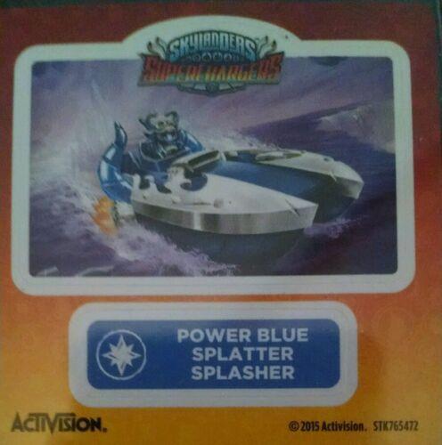 Power Blue Splatter Splasher Skylanders Superchargers Sticker Only!