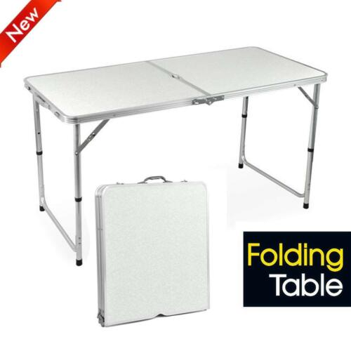 1.2M 4FT CATERING CAMPING HEAVY DUTY FOLDING TABLE TRESTLE PICNIC PARTY BBQ DESK