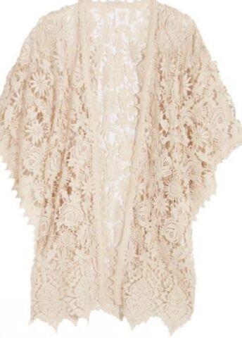 Anna Sui Lace Crocheted Kimono