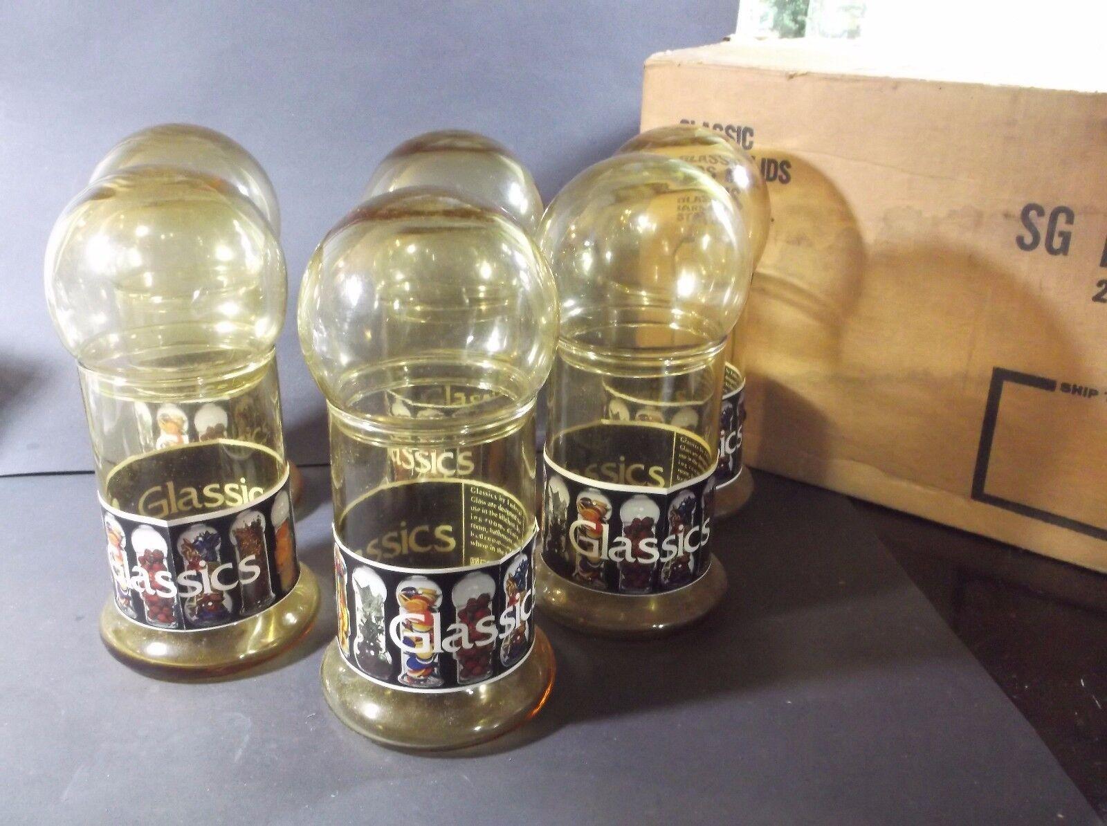 Federal Glass Status Glassic storage jars