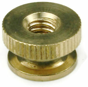 Brass Solid Knurled Thumb Nut UNC #6-32, Qty 100