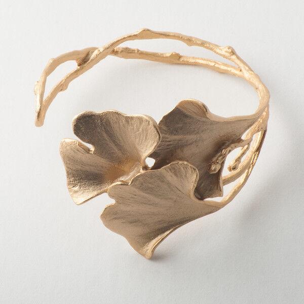 Michael Michaud - Ginkgo Cuff Bracelet - 24k Gold Plated