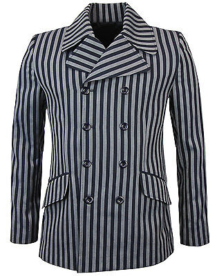 NEW RETRO MENS MOD 60s STRIPE Striped BOATING BLAZER JACKET Purple Offbeat MC393