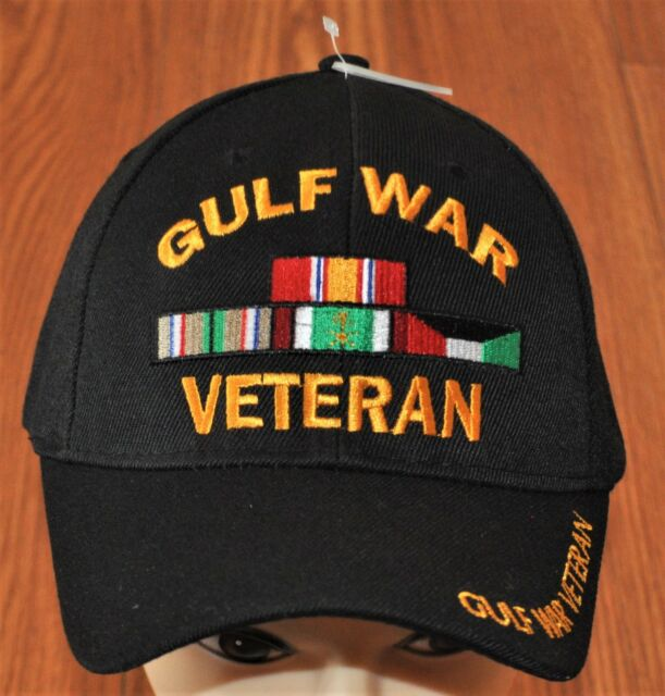 00cebfddaba New Black US Military Gulf War Veteran Hat Baseball Ball Cap Army Navy  Marines