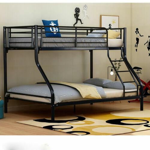 Panana 3 Sleeper Metal Triple Bunk Bed Frame 4ft6 Double Bottom 3ft Single Top For Sale Online Ebay