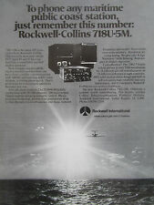 2/1980 PUB ROCKWELL COLLINS TELECOMMUNICATION 718U-5M HF TRANSCEIVER ORIGINAL AD