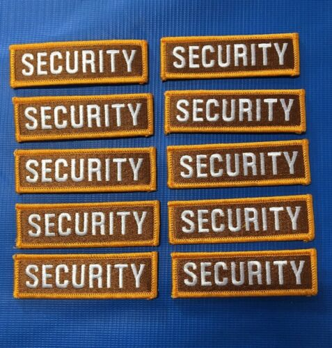 """Lot Of 10 Security police law enforcement staff Embroidered Patches 2.5/"""" X 1/"""""""