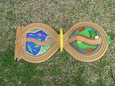Fisher Price GeoTrax On The Go Zoo Portable Foldable w Carry Handle Train Track