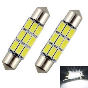 2-ampoules-a-LED-Navette-Lumiere-Plafonnier-pour-Audi-A3-A4-A5-A6-Q5-Q7