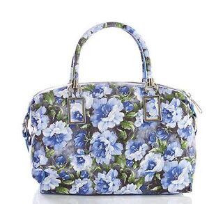 99 Floral Trafalgar London French £269 Ladies Blue Sky Rrp Leather Jack Handbag xXqPnSFF