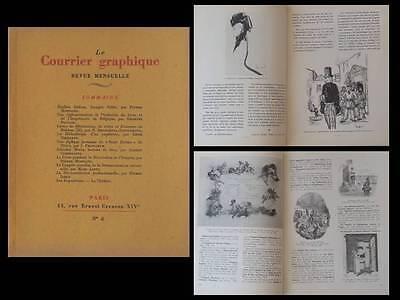 Le Courrier Graphique N°8 1938 Emilien Dufour, Edmond Morin, Livre, Boheme Hoge Kwaliteit En Goedkoop